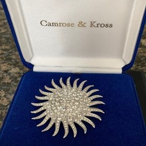 JBK SUNBURST BROOCH BY CAMROSE & KROSS NWT